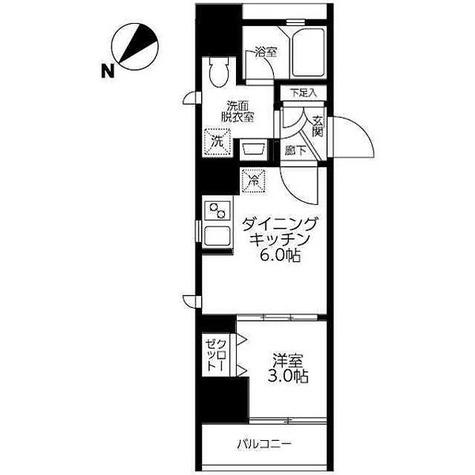アイル新宿イースト / 1階 部屋画像1