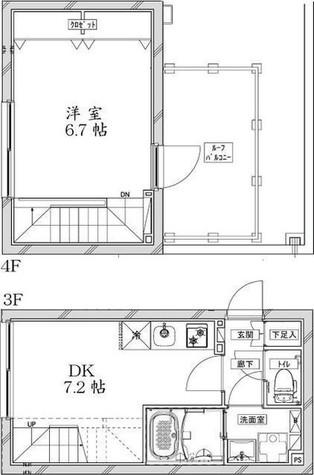Coeur Blanc大井町Annex(クールブランオオイマチ) / 4階 部屋画像1