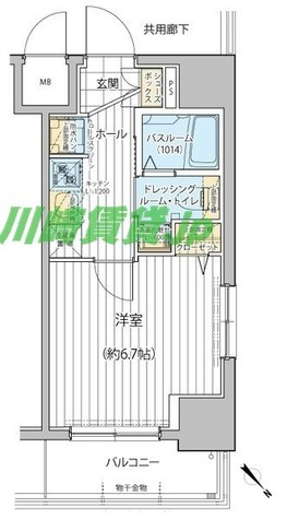 エステムプラザ川崎 / 1K(23.00㎡) 部屋画像1
