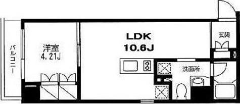 戸越 2分マンション / 1LDK(34.71㎡) 部屋画像1