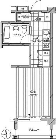 カスタリア麻布十番七面坂 / Fタイプ(27.00㎡) 部屋画像1