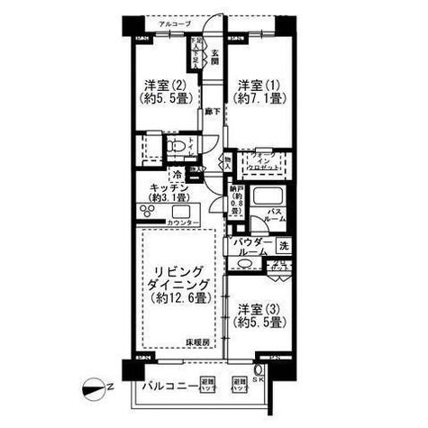 シティハウス神宮北参道 / 2階 部屋画像1
