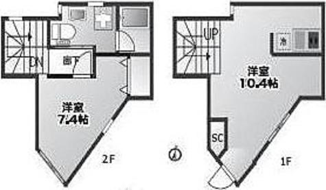 プライム八幡山 / 2K(50.53㎡) 部屋画像1