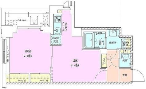 広尾レジデンス壱番館 / Eタイプ(39.69㎡) 部屋画像1