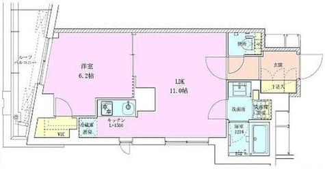 広尾レジデンス壱番館 / Hタイプ(40.16㎡) 部屋画像1