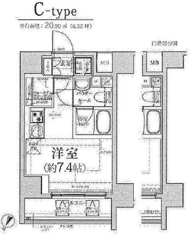 クラリッサ川崎グランデ / 2階 部屋画像1