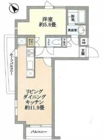 パレ・ホームズ大岡山 / 401 部屋画像1