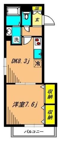 Aoiグリーンパレス / 4階 部屋画像1