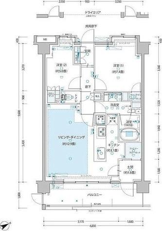 サムティレジデンス藤が丘 / F3'タイプ(67.09㎡) 部屋画像1