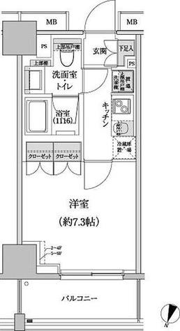 パークハビオ渋谷本町レジデンス / 1K(25.02㎡) 部屋画像1