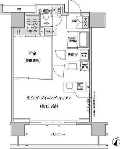 パークハビオ渋谷本町レジデンス / 1階 部屋画像1