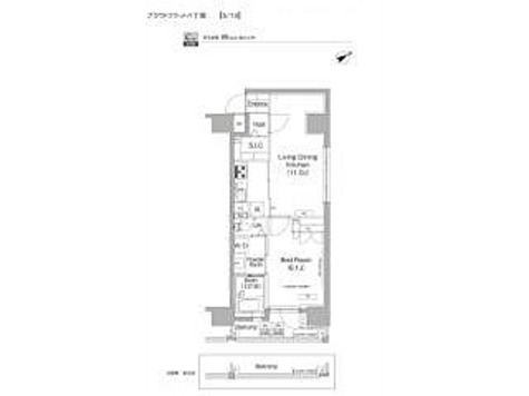 プラウドフラット八丁堀 / 1LDK(40.01㎡) 部屋画像1