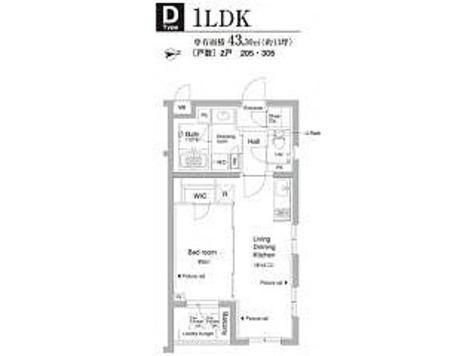 プライムアーバン新宿内藤町 / 1LDK(43.3㎡) 部屋画像1