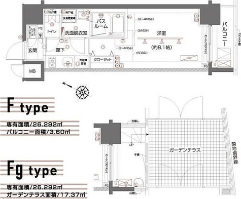 ZOOM都立大学 / Fタイプ(26.29㎡) 部屋画像1