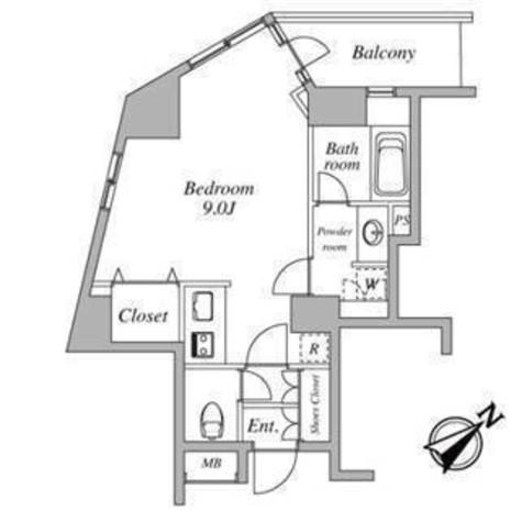 セントラルクリブ六本木Ⅰ / 7階 部屋画像1