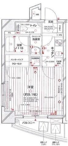 パレステュディオ中目黒 / 1004 部屋画像1