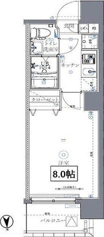 ミルーナリュクス西川口 / 1K(23.57㎡) 部屋画像1