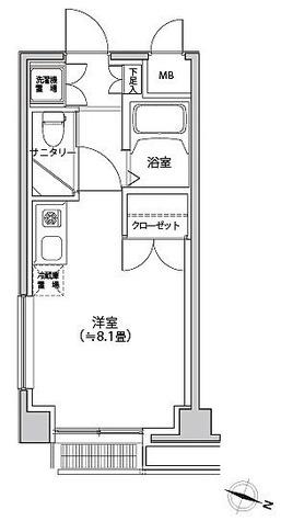 カスタリア都立大学 / ワンルーム(22.67㎡) 部屋画像1