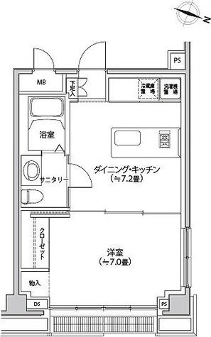 カスタリア都立大学 / 1DK(35.77㎡) 部屋画像1