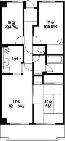 ライブオン和田 / 3LDK(61.90㎡) 部屋画像1