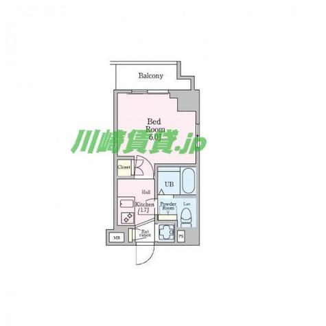 エクセレントプレイス武蔵小杉 / 1K(19.01㎡) 部屋画像1