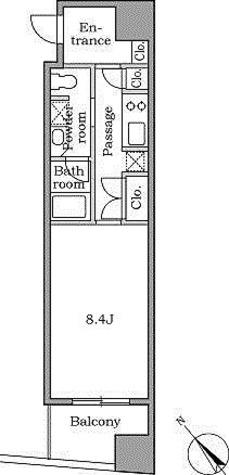 レジディア恵比寿Ⅱ / 2階 部屋画像1