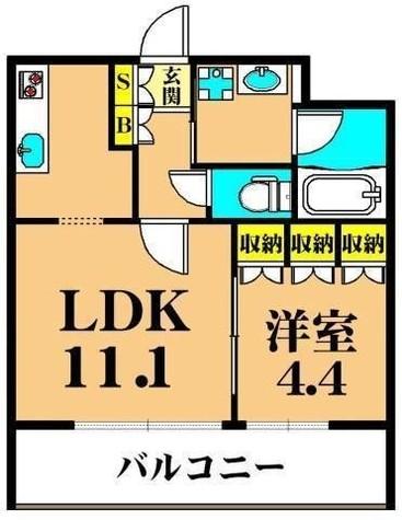 大井町 5分マンション / 303 部屋画像1