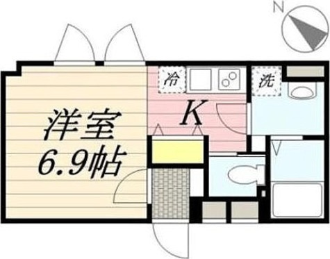Lapis幡ヶ谷 / 1K(23.10㎡) 部屋画像1