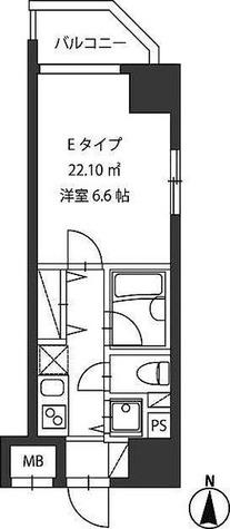 レジディア新御茶ノ水 / 1K(22.10㎡) 部屋画像1