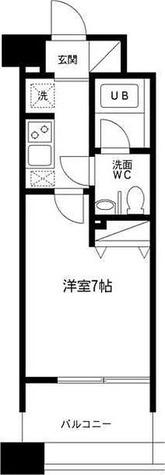 レジディア島津山 / 1K(22.83㎡) 部屋画像1