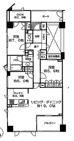 グランスイート横濱山手(グランスイート横浜山手) / 8階 部屋画像1