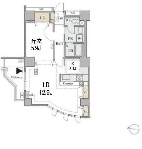コラム神泉 / 408 部屋画像1