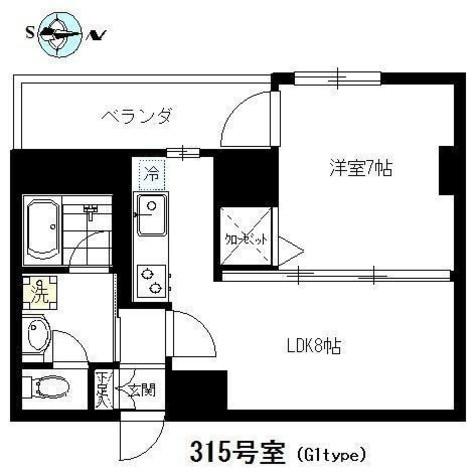 関興パークハイツ / 3階 部屋画像1