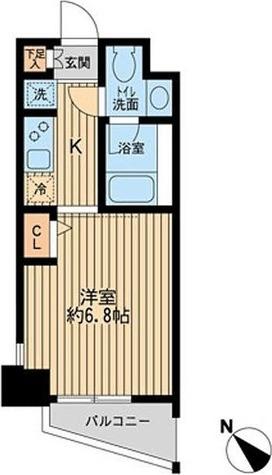 KDXレジデンス多摩川 / 1K(21.90㎡) 部屋画像1