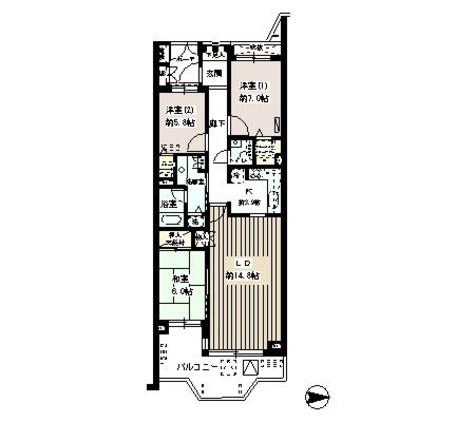 ドゥフォーレ高輪 / 5 Floor 部屋画像1