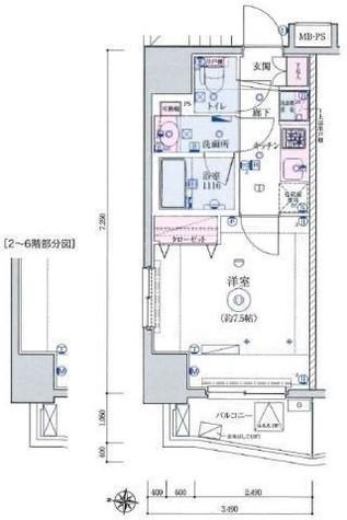 リヴシティ田町 / 5階 部屋画像1