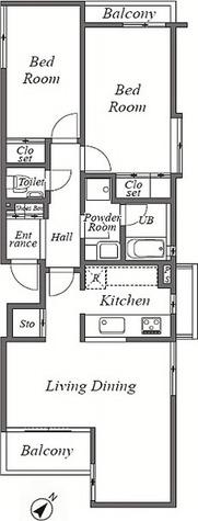 パルグレイス / 203 部屋画像1