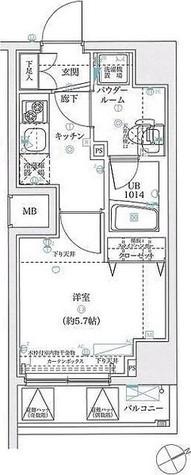 スパシエフルス綱島 / Aタイプ(21.44㎡) 部屋画像1