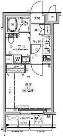 リルシア板橋区役所前 / 1K(25.55㎡) 部屋画像1