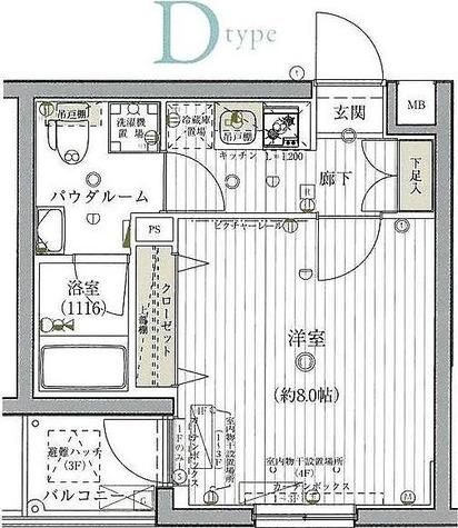 グロース北赤羽 / 1K(25.8㎡) 部屋画像1