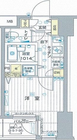 フォレシティ六本木 / 1K(20.12㎡) 部屋画像1
