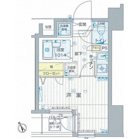 フォレシティ六本木 / 1K(19.72㎡) 部屋画像1