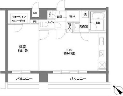カスタリアお茶の水 / 1LDK(51.49㎡) 部屋画像1