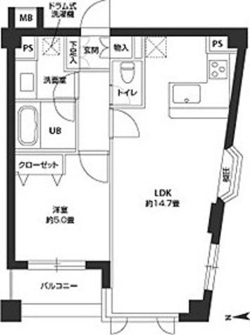 カスタリア自由が丘 / 1LDK(45.23㎡) 部屋画像1