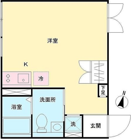 LAPiS原宿Ⅱ / 1R(23.31㎡) 部屋画像1