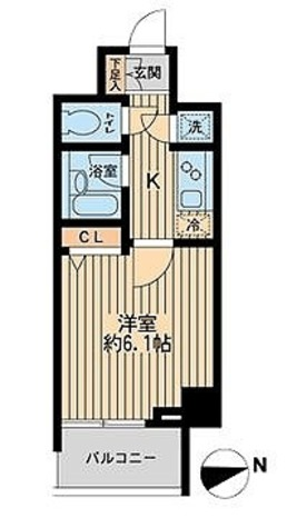 HF早稲田レジデンスⅡ / 1K(21.15㎡) 部屋画像1