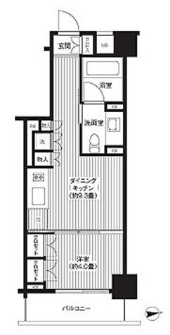 HF麻布十番レジデンス(旧:コスモグラシア麻布十番) / 1DK(32.06㎡) 部屋画像1