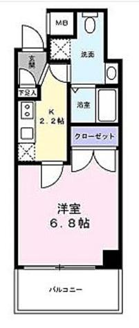 ザ・パーククロス浦安 / Bタイプ(22.96㎡) 部屋画像1