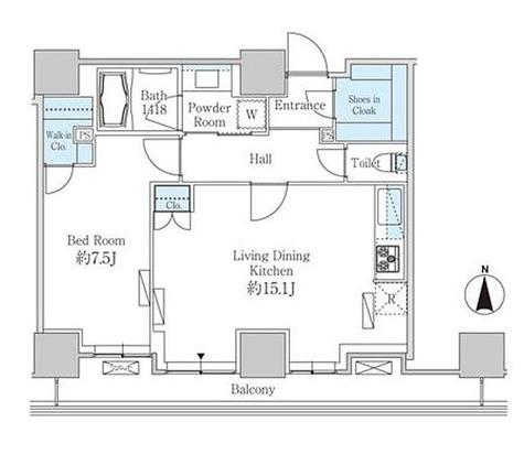 ベルファース芝浦タワー / 1LDK(55.59㎡) 部屋画像1