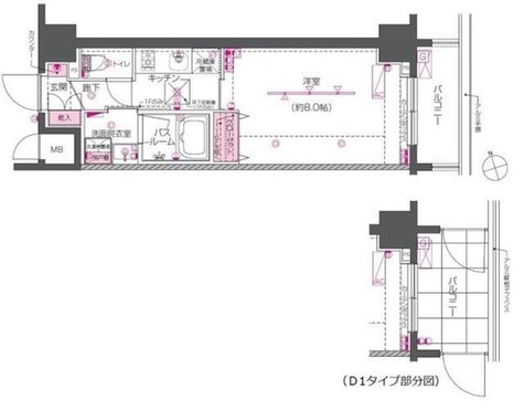 ZOOM戸越銀座 / 402 部屋画像1